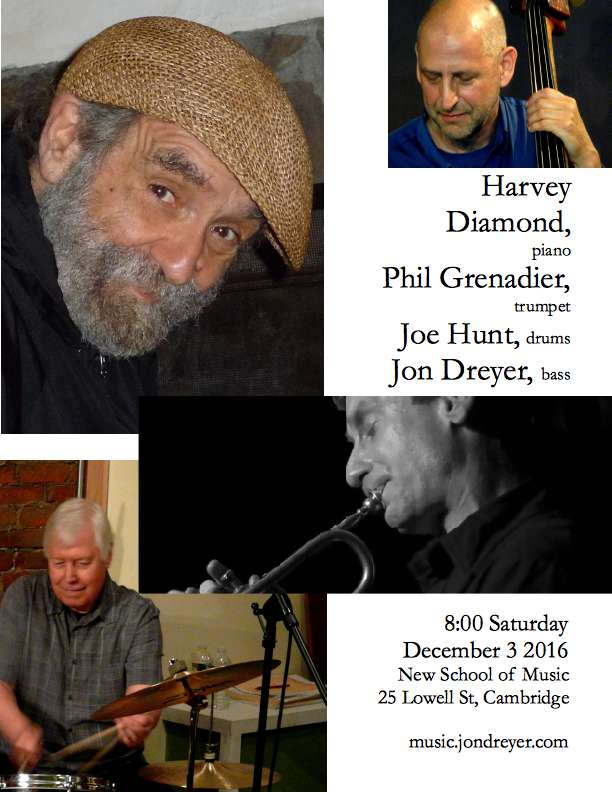 Harvey Diamond Quartet Poster, December 3 2016